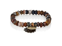 Miracle Icons Men's Beaded Bracelet Brown