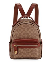 Coach Campus 23 Signature Coated Canvas Backpack Tan Rust