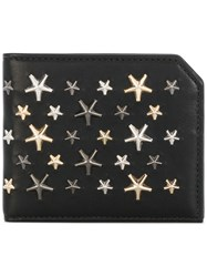 Jimmy Choo Albany Studded Wallet Men Calf Leather Metal One Size Black