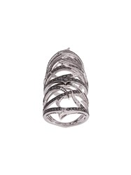 Stephen Webster Embellished Armour Ring White Gold