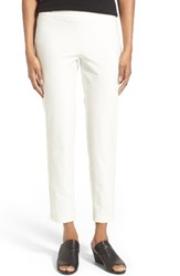 Eileen Fisher Women's Stretch Crepe Slim Ankle Pants Bone