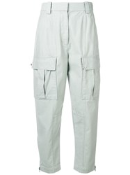 3.1 Phillip Lim Cropped Cargo Trousers Green