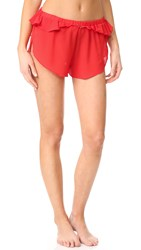 For Love And Lemons Little Rosette Sleep Shorts Red Spice