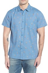 Kahala Waveriders Trim Fit Print Sport Shirt Chambray