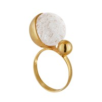Solomeina Ballet Ring White Gold Nude