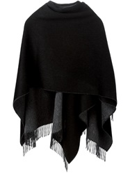 Rag And Bone Rag And Bone Fringed Shawl Scarf Black