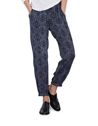 Velvet By Graham And Spencer Printed Cuffed Pants Blue