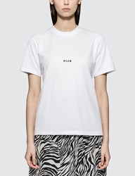 Msgm Small Logo T Shirt