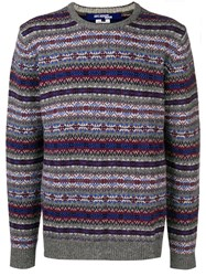Junya Watanabe Knit Printed Sweater Grey