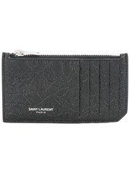 Saint Laurent Classic 5 Fragments Zip Pouch Black