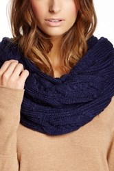 Ivanka Trump Double Twisted Cable Knit Infinity Scarf Blue