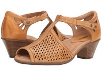 Earth Pavo Amber Yellow Soft Leather Women's Shoes Beige