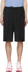 Comme Des Garcons Homme Plus Black Wool Layered Pockets Shorts