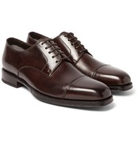 Tom Ford Wessex Polished Leather Derby Shoes Brown