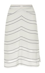 Proenza Schouler Gathered Striped Skirt
