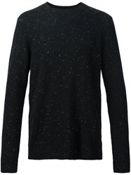 Atm Anthony Thomas Melillo Flecked Jumper Black