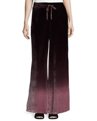Young Fabulous And Broke Bryson Ombre Velvet Pants Burgundy