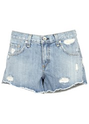 Rag And Bone Light Blue Distressed Denim Shorts