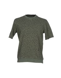 Daniele Alessandrini Topwear Sweatshirts Men Military Green