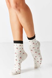 Urban Outfitters Conversational Crew Sock Red