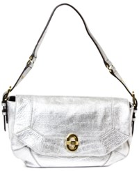 Aimee Kestenberg Rocco Medium Shoulder Bag Silver Croco