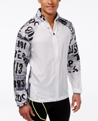 Reebok Men's Graphic Wind Jacket White