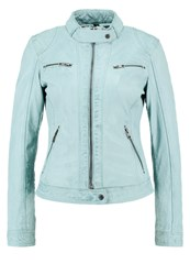 Oakwood Leather Jacket Turquoise