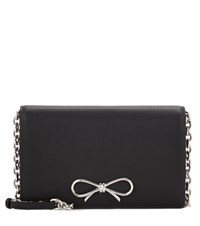 Balenciaga Bow Chain Wallet Leather Shoulder Bag Black