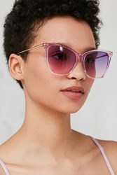 Urban Outfitters Crystal Gradient Cat Eye Sunglasses Purple