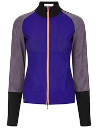 Monreal Multi Perforated Sports Zip Up Jacket Purple