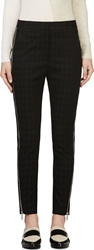 Stella Mccartney Black Houndstooth Zip Trousers