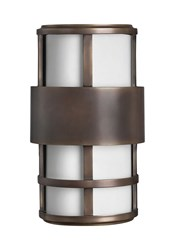 Hinkley Saturn Outdoor Pocket Wall Light 1908Mt Small 12.5 In H Metro Bronze Incandescent Brown