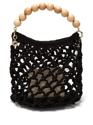 Rosantica By Michela Panero Polaris Knitted Tote Bag Black Multi