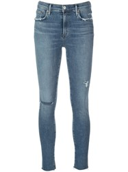 Agolde Distressed Skinny Jeans Blue