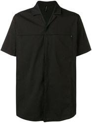 Transit Notched Collar Shirt Black