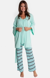 Olian Four Piece Maternity Sleepwear Gift Set Mint