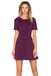 Eight Sixty Fit And Flare Dress Purple