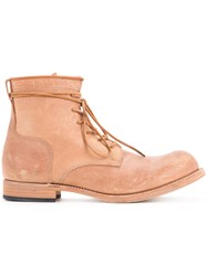 Kazuyuki Kumagai Lace Up Ankle Boots Men Calf Leather 26.5 Brown