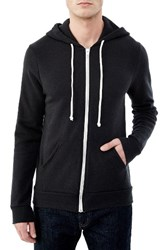 Alternative Apparel Men's 'Rocky' Eco Fleece Tm Zip Hoodie Eco True Black