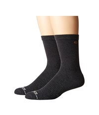 Carhartt Force Extremes Cushion Crew 2 Pair Charcoal Men's Crew Cut Socks Shoes Gray