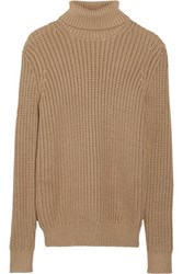 Michael Kors Collection Chunky Knit Turtleneck Sweater Sand