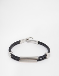 Seven London Metal Detail Bracelet Black