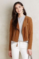 Anthropologie Paige Leather Moto Jacket Brown L Jackets