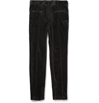 Haider Ackermann Slim Fit Stretch Cotton Corduroy Trousers Gray