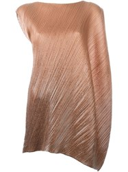 Issey Miyake Vintage Asymmetric Pleated Dress Brown