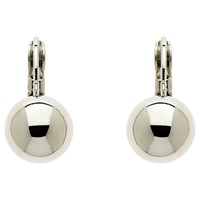 Finesse Plated Ball Leverback Earrings Silver