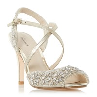 Linea Molaney Cross Strap Peep Toe Sandals Gold