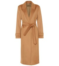 Burberry Cashmere Wrap Coat Brown