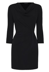 James Lakeland Cowl Neck Pleat Tunic Black