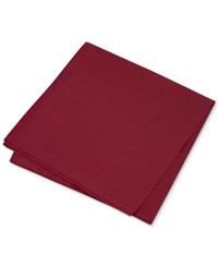 Club Room Men's Simple Solid Pocket Square Only At Macy's Burgundy